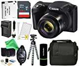 Canon PowerShot SX420 IS Digital Camera (Black), 20MP, 42x Optical Zoom, 720p HD Video & Built-In Wi-Fi + 64GB Card + Reader + Grip + Spare Battery/Charger + Tripod + DigitalAndMore Accessory Bundle