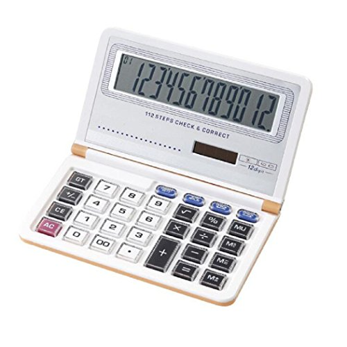 Calculator  Solar And Aaa Battery Dual Power Folding Calculator Perfect For Business  School And Office Gold