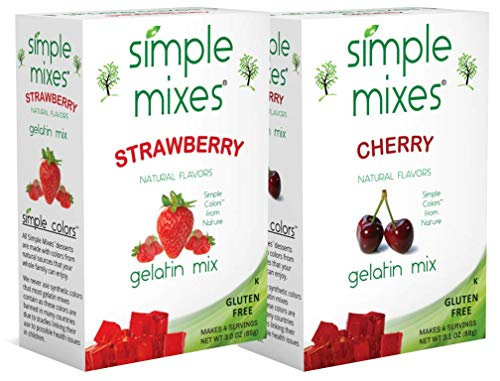 Simple Mixes Strawberry and Cherry Gelatin Pack...