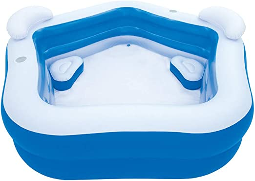 JINMM Piscina Hinchable Familiar,2.13m X 2.07m X 69cm, Azul ...