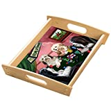 Home of Havanese 4 Dogs Playing Poker Wood Serving Tray