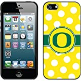 Coveroo Oregon Ducks Polka Dots Design Phone Case for iPhone 5s/5 - Retail Packaging - Black