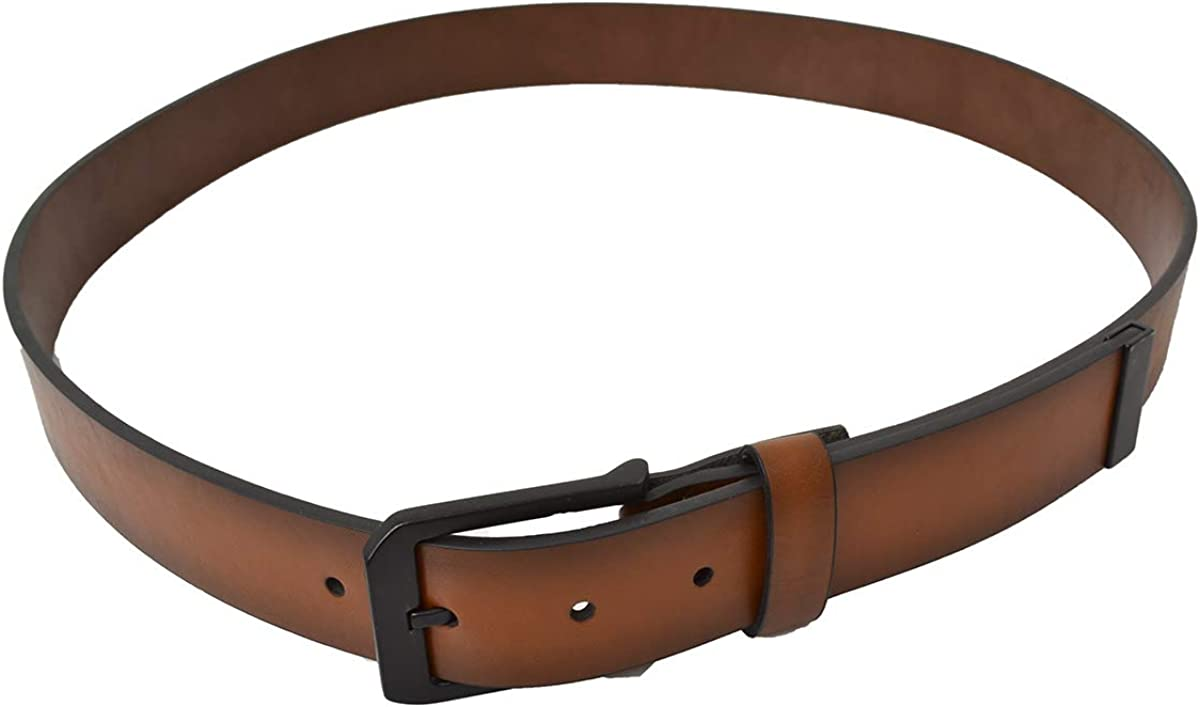Alfani Mens Leather 35mm Cut Edge Jean Casual Belt TAN 40
