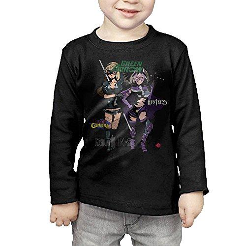 - Ig0ravf Cool Black Canary Green Arrow Kids Toddler Long Sleeve T Shirt Black US Size 4 Toddler