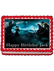Harry Potter Personalized Edible Cake Topper Image -- 1/4 Sheet
