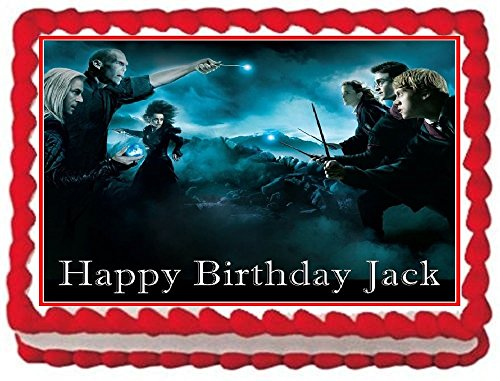 - Harry Potter Personalized Edible Cake Topper Image -- 1/4 Sheet