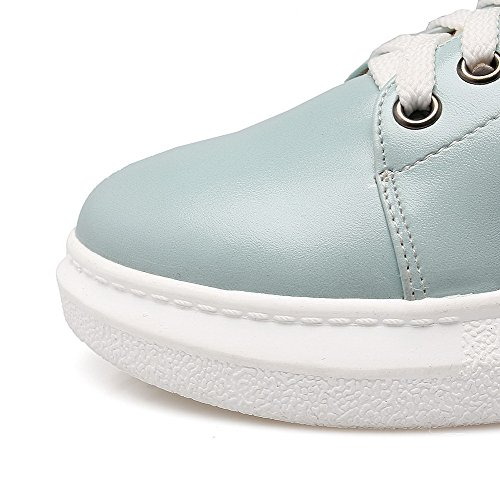 punta Materiales Zapatos Cremallera de Color mujer Combinación redonda para Azul Cremallera surtidos VogueZone009 EFqAvP