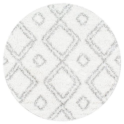 NuLOOM Cozy Soft and Plush Moroccan Trellis/Grey Shag Rug