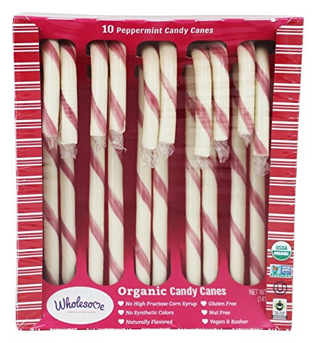 Wholesome Organic Candy Canes, 5.0 oz, Single Unit