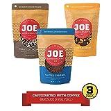 Joe Chocolates Original Variety Pack Caffeinated Dark Chocolate Espresso Bark (Honey Almond, Salted Caramel, Midnight Coconut) (3-Pack)