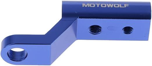 Kesoto 2stk Motorrad Spiegelverlängerung Lenker Spiegel Halter Adapter Aus Alu Einfache Installation Auto