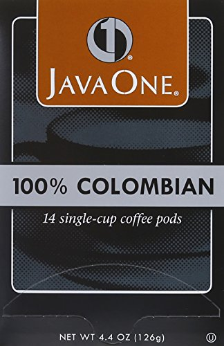 Java One Colombian 100% Coffee, 14-Count Pods (Pack of 6)