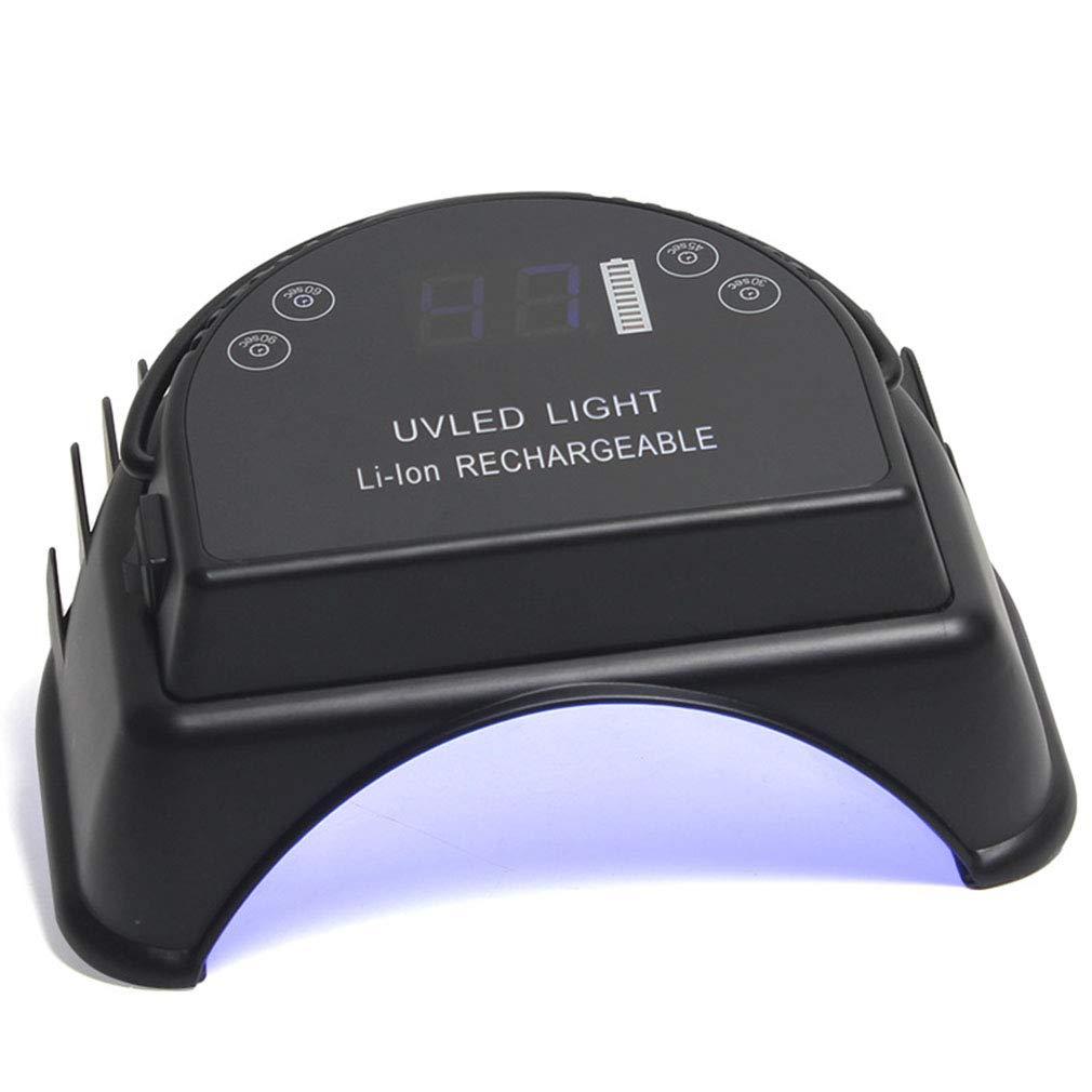 ネイルドライヤー48ワットワイヤレス充電led uvランプ指の爪の爪硬化マニキュア機ネイルアートサロンツール自動センシング B07P6FPQ4B