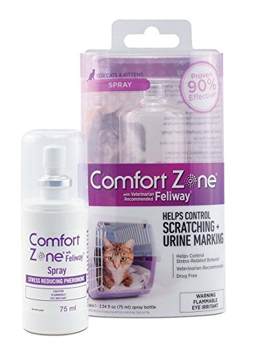 Comfort Zone with Feliway Spray for Cat Calming, 75 Milliliters