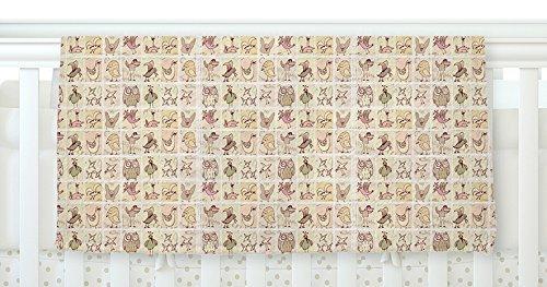 KESS InHouse Marianna Tankelevich Cute Birds Tan Grid Fleece Baby Blanket 40 x 30 [並行輸入品]   B077Z39KQG