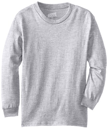 MJ Soffe Big Boys' Youth Pro Weight Long-Sleeve T-Shirt, Athletic Heather, Small ()