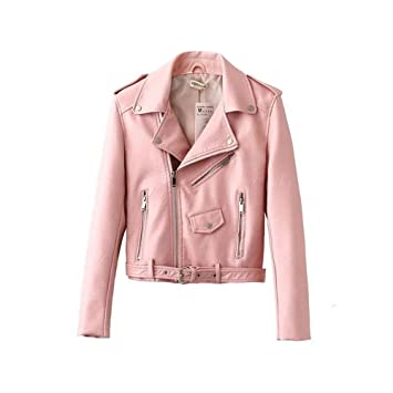 online retailer 4db18 20d37 AUMING Damen Jacke Rosa Punk Leder Street Fashion Frauen ...