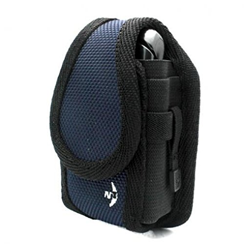 Authentic Blue Nite-Ize Cargo Case Rugged Canvas Cover Phone Holster with Belt Clip for Samsung Convoy 4
