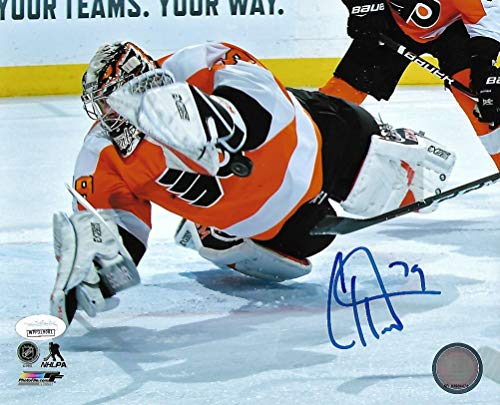 Carter Hart Flyers Save v. Canucks Autographed 8