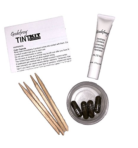 Godefroy Instant Eyebrow Tint Permanent Eyebrow Color Kit Dark Brown