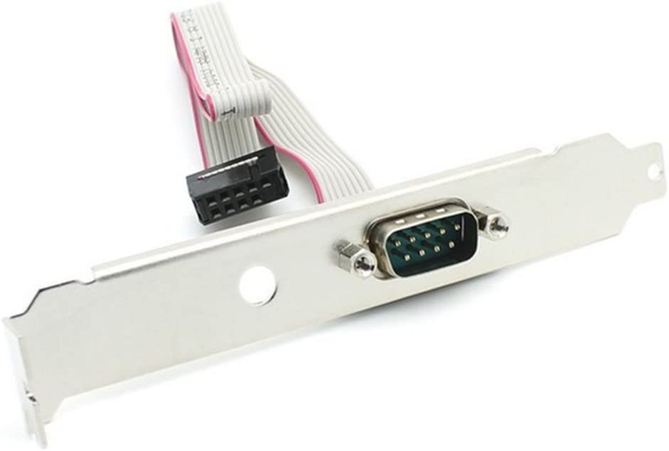 Pack of 50//DB9 Male RS232 COM Port to IDC 10pin Cable w// Bracket