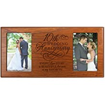 Every Love Story Is Beautiful but Our Is My Favorite 10th Wedding Anniversary Picture Frame Gift for Couple,10th Anniversary Gifts for Her,10th Anniversary Gifts for Him Frame Holds 4x6 Photos(Cherry)