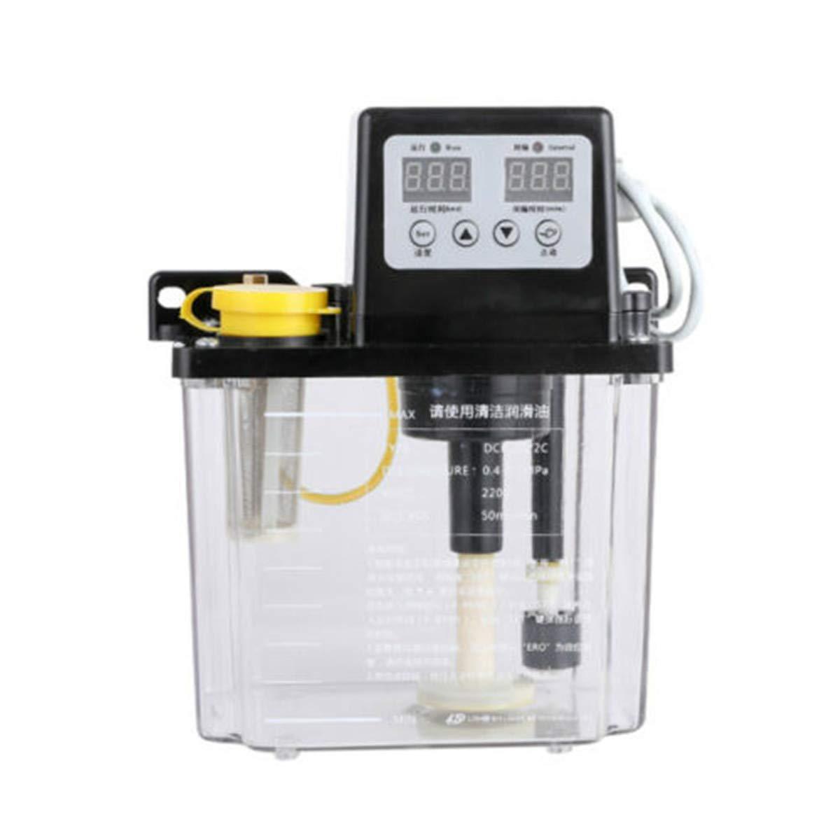 110V 2L Dual Digital Display Automatic Electric Lubrication Pump Oiler NC Pump CNC Engraving Router Machine Oil Pump