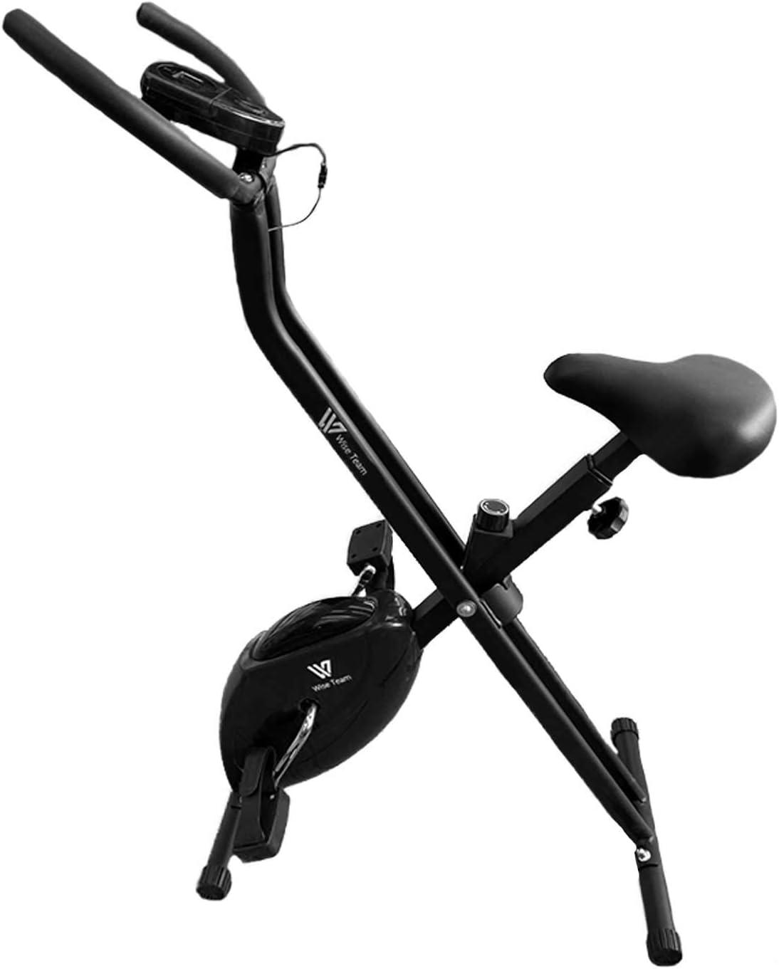 HANKING PLANET Bicicleta estática Plegable, Bicicleta estática Fitness con Niveles de Resistencia, Pantalla info. Velocidad, Distancia, calorias.