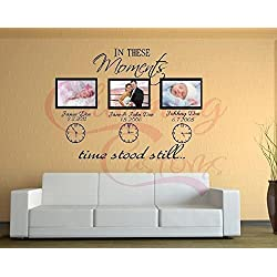 In These Moments Wall Decal (3 clocks/names)