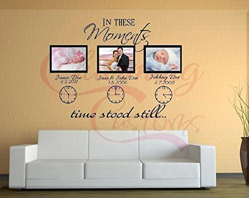 These Moments Decal clocks names product image