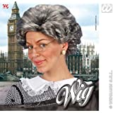Agatha Christie Short Grey Wig Granny Nan Grandma Fancy Dress