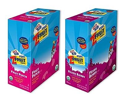 Kid ZFruit Mixed Berry 18 Bars/Fruit Punch 18 Bars (36 Bars Total) Clif-ak