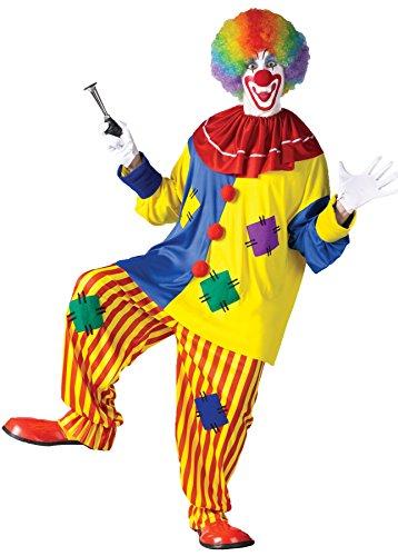 Plus Top Costumes Clown Big (GTH Men's Funny Circus Big Top Clown Theme Party Fancy Dress Costume,)