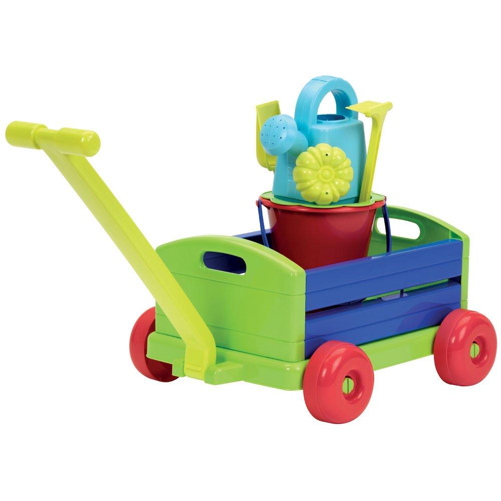 Ecoiffier-France Kinder-Bollerwagen 40x32cm mit Sandspielzeug-Eimergarnitur Hummelladen