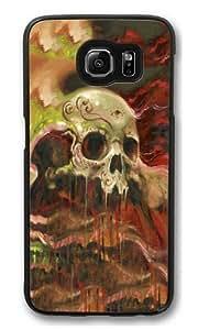 Samsung Galaxy S6 Case, Samsung Galaxy S6 Cases -Sugar Skull Custom PC Hard Case Cover for Samsung S6/Samsung Galaxy S6 Black