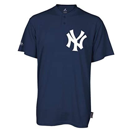 dae998305 Image Unavailable. Image not available for. Color  Majestic Two-Button New  York Yankees Replica Adult Cool Base Jersey ...