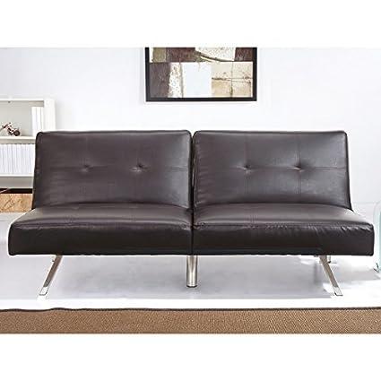 Amazon.com: Contemporary Aspen Espresso Brown Leather ...