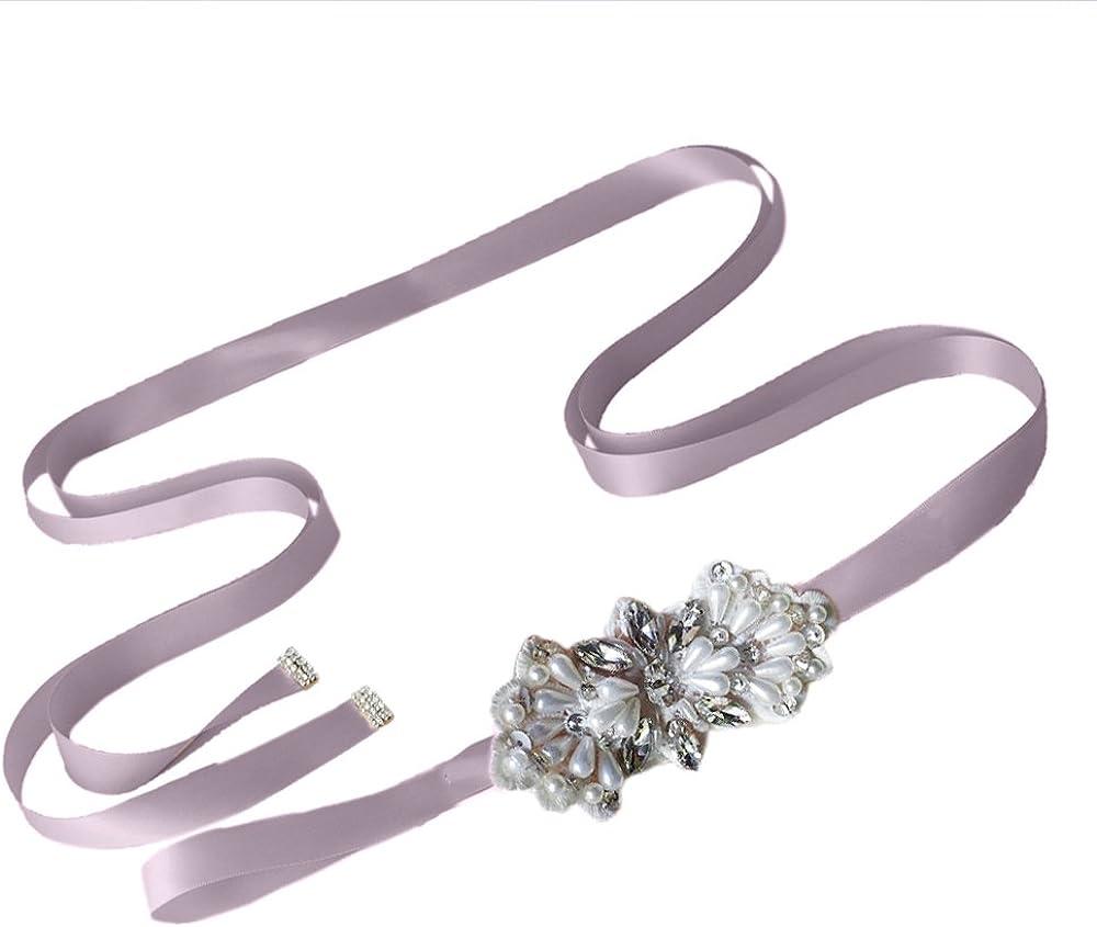 Azaleas Womens Rhinestone Wedding Belt Sashes Bridal Sash Belts for Wedding