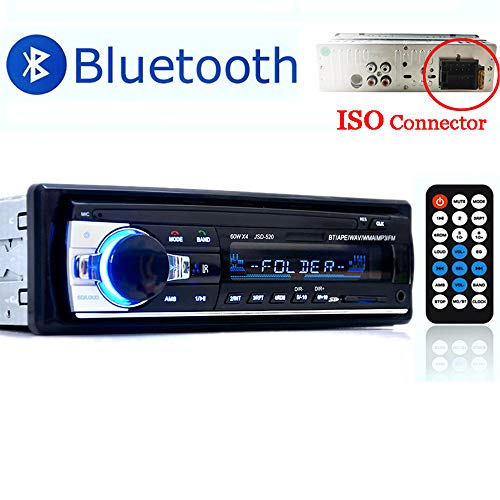 Amazon.com: PolarLander Car Radio Audio USB/SD/MP3 Player Receiver Bluetooth Hands-Free with Remote Control Black 1 Din: Cell Phones & Accessories