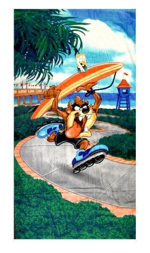 Looney Tunes Taz Towel - Taz Surf Beach / Bath Towel