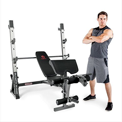 Marcy Olympic Weight Bench for Full-Body Workout MD-857 (Marcy Weight Bench Set)