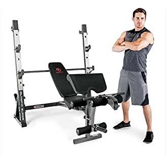 Marcy MD-857 Olympic Weight Bench for Full-Body Workout
