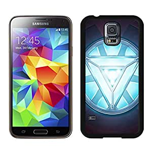 Iron man Heart Black Samsung Galaxy S5 G9008V Screen Cellphone Case Unique and Newest Design