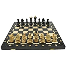 Ambassador Combination Chess Set - Black 21 inch x 21 Inch