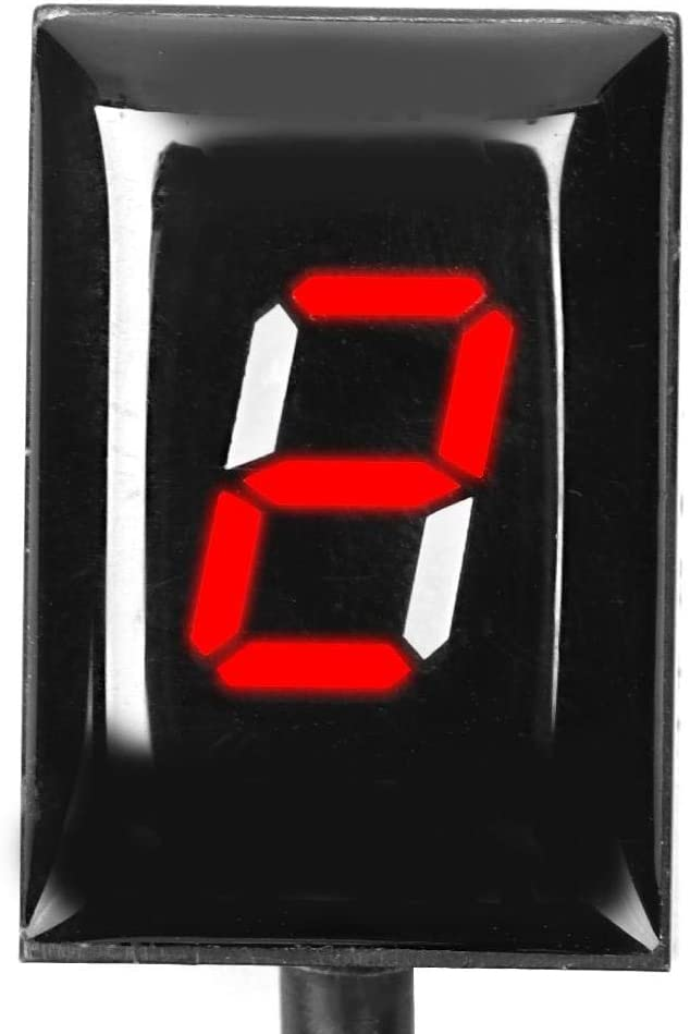 Green Cuque Speed Gear Indicator Motorcycle LED Digital Shift Light Speed Display for Yamaha FJR1300 FZ-16 FZ-S FZ400 FZ6 FZ6R XJ6 XJR400 XJR1300 YS250 YZF-R1 FZ8 FZ1 FZH150 FZN150