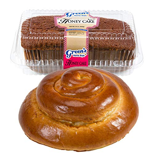 Green's Bakery Traditional Round Challah & Honey Cake Kosher Gift Pack