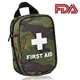 First Aid Kit - for Car,Travel, Sports, Camping, Home,Hiking or Office | Complete Emergency Bag Fully stocked with Medical Supplies