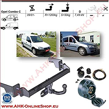 AHK 7Pin Wiring Kit For Vauxhall Corsa C Combo 2001 to 2011 Tow