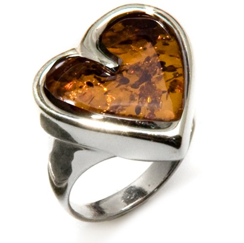 Amber-and-Sterling-Silver-Large-Heart-Ring