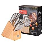 Cheap Esup Premium Stainless Steel 15-Piece Knife Block Set, Include Wooden knife Stand, Best Christmas Gifts